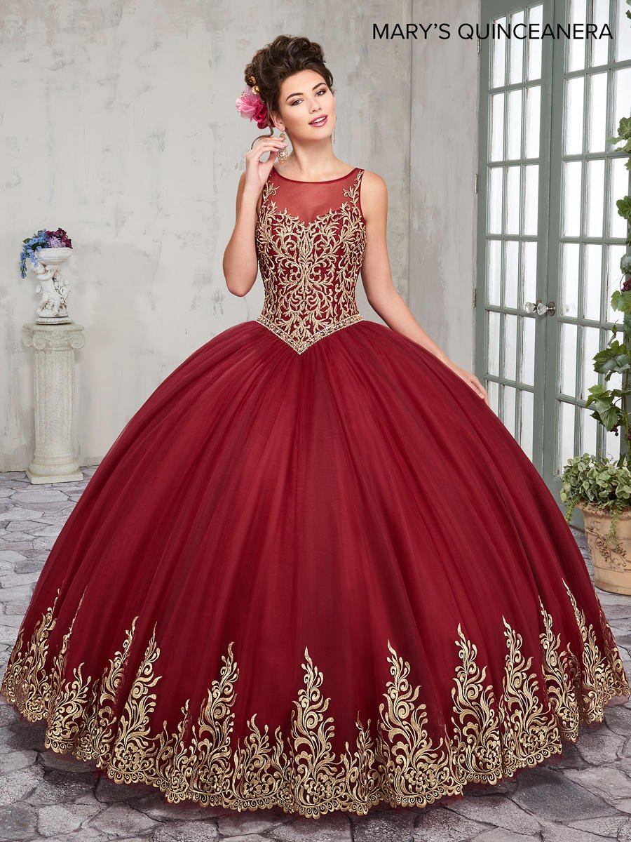 Black Label Price >> Marys MQ2012 Gold Embroidered Quinceanera Dress: French ...