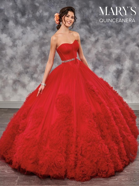 b59f7d62b2e Marys Mq2024 Quinceanera Dress With Ruffles French Novelty