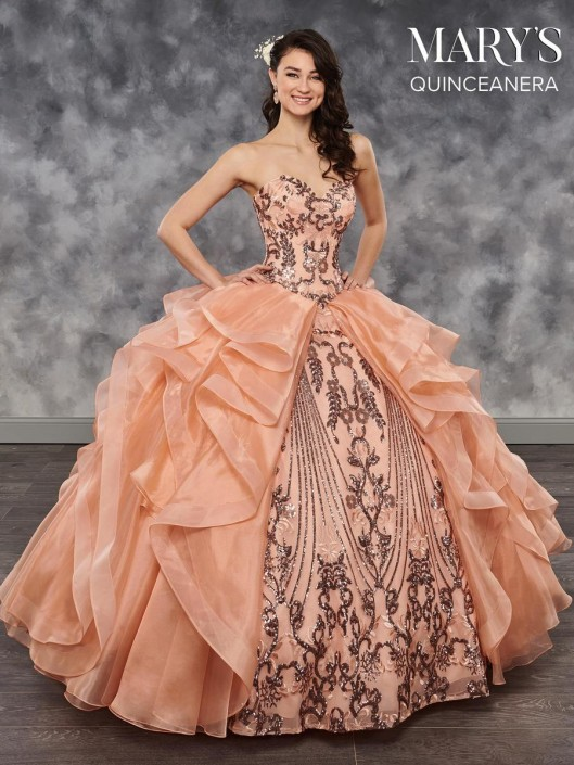 819dd5de946 Marys Mq2028 Ruffled Anza Quinceanera Dress French Novelty