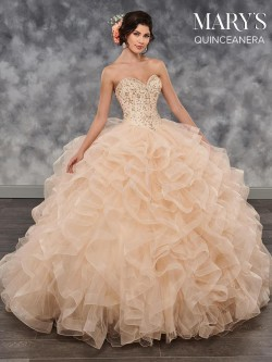 205e06fff42 Marys MQ2030 Ruffled Tulle Quinceanera Dress
