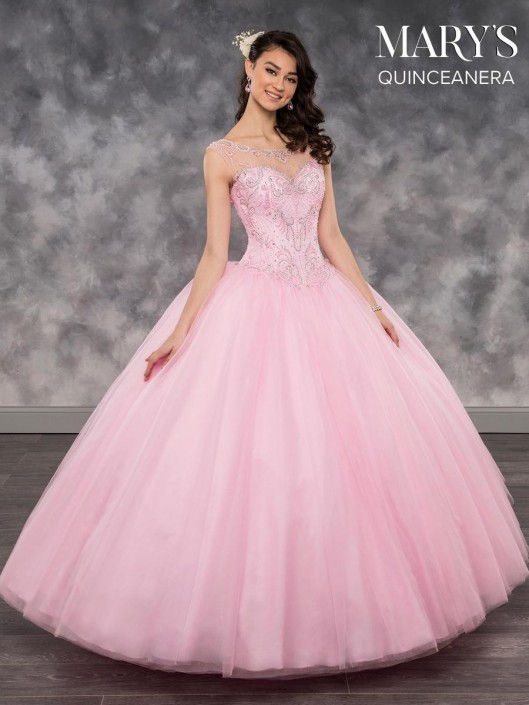 a4c9b244858 Marys MQ2033 Quinceanera Dress with Illusion  French Novelty