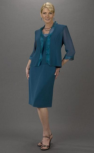 Short Mother Of The Bride Dress Ursula Jacket Dress 13033