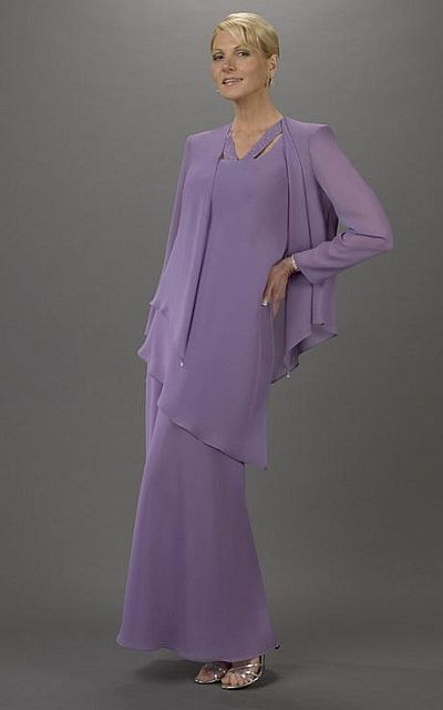 Plus Size Mother of the Bride Long 3pc Tunic Skirt Set Ursula 63040 ...