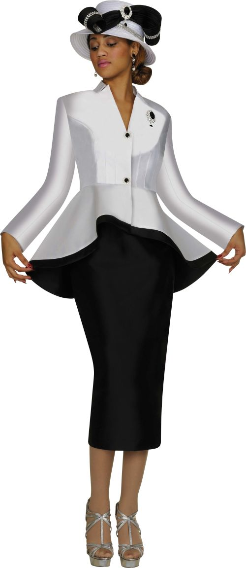 Nubiano Suits N95472 Womens High Low Church Suit: French Novelty