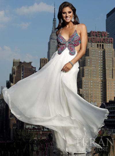 Terani Butterfly Prom Dress P106 French Novelty