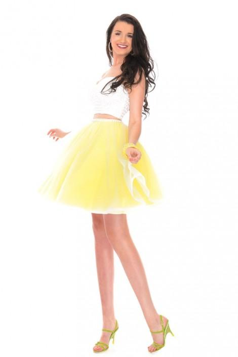 3ccdad7e434 Precious Formals P23008 Short 2 Piece Prom Dress  French Novelty
