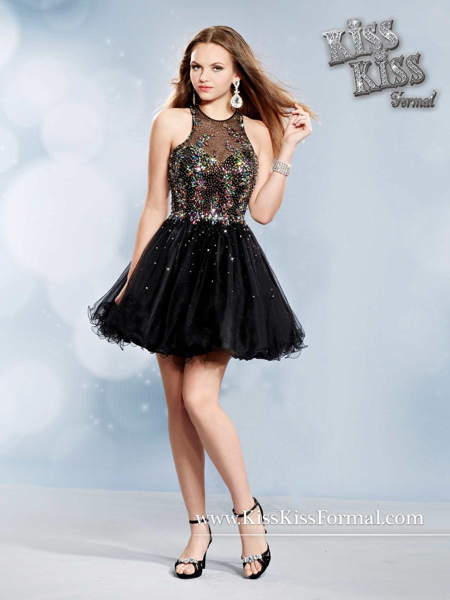 Kiss Kiss Formal P3751 Short Tulle Prom Dress French Novelty