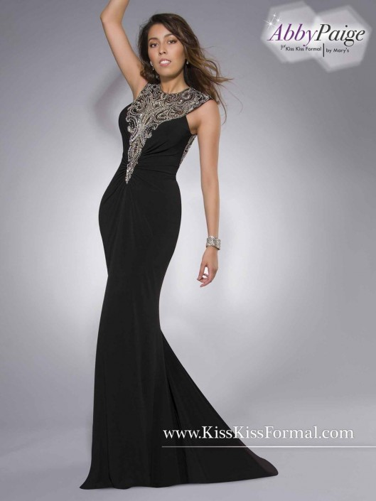 Kiss Kiss P3833 Cap Sleeve Prom Dress: French Novelty