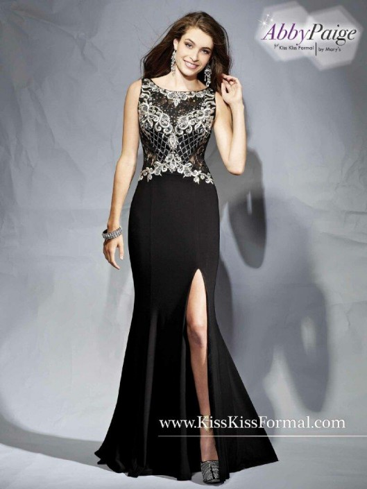 Kiss Kiss P3854 Fit and Flare Prom Dress: French Novelty