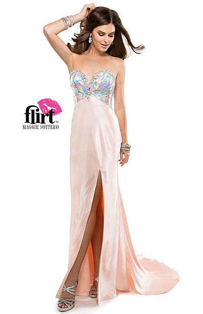 8cca5481fbc Flirt P4829 Iridescent Sequin Formal Dress  French Novelty
