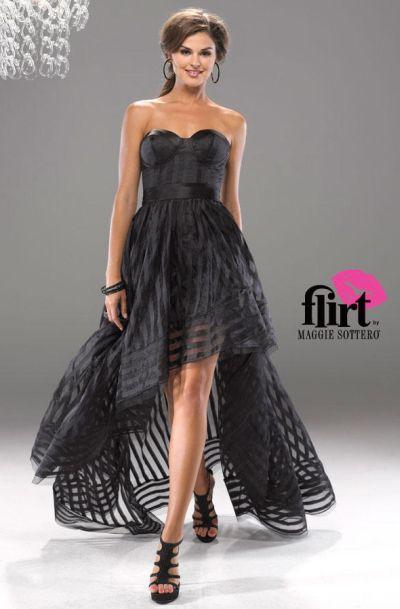 Flirt P5707 High Low Organza Corset Dress: French Novelty