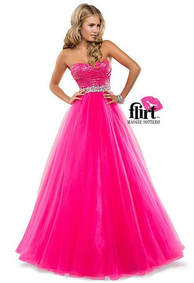 Flirt P5818 Sequin Tulle Ball Gown: French Novelty