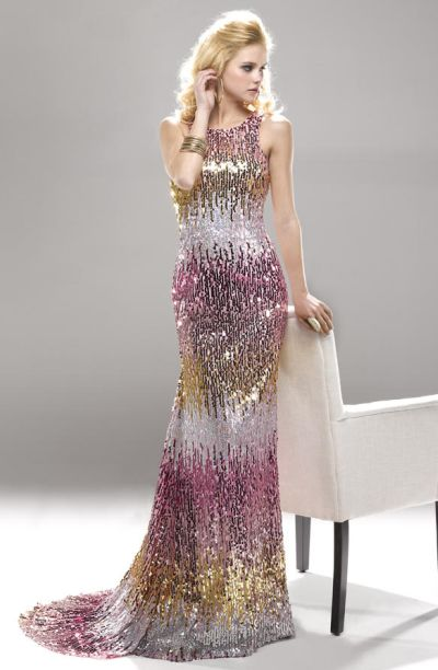 9904c32412e Flirt PF5144 Ombre Sequin Long Homecoming Dress  French Novelty