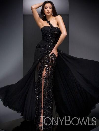 Black Pageant Dress