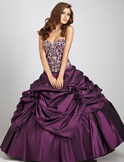 Allure Bridals Taffeta Quinceanera Prom Dress Q325: French Novelty