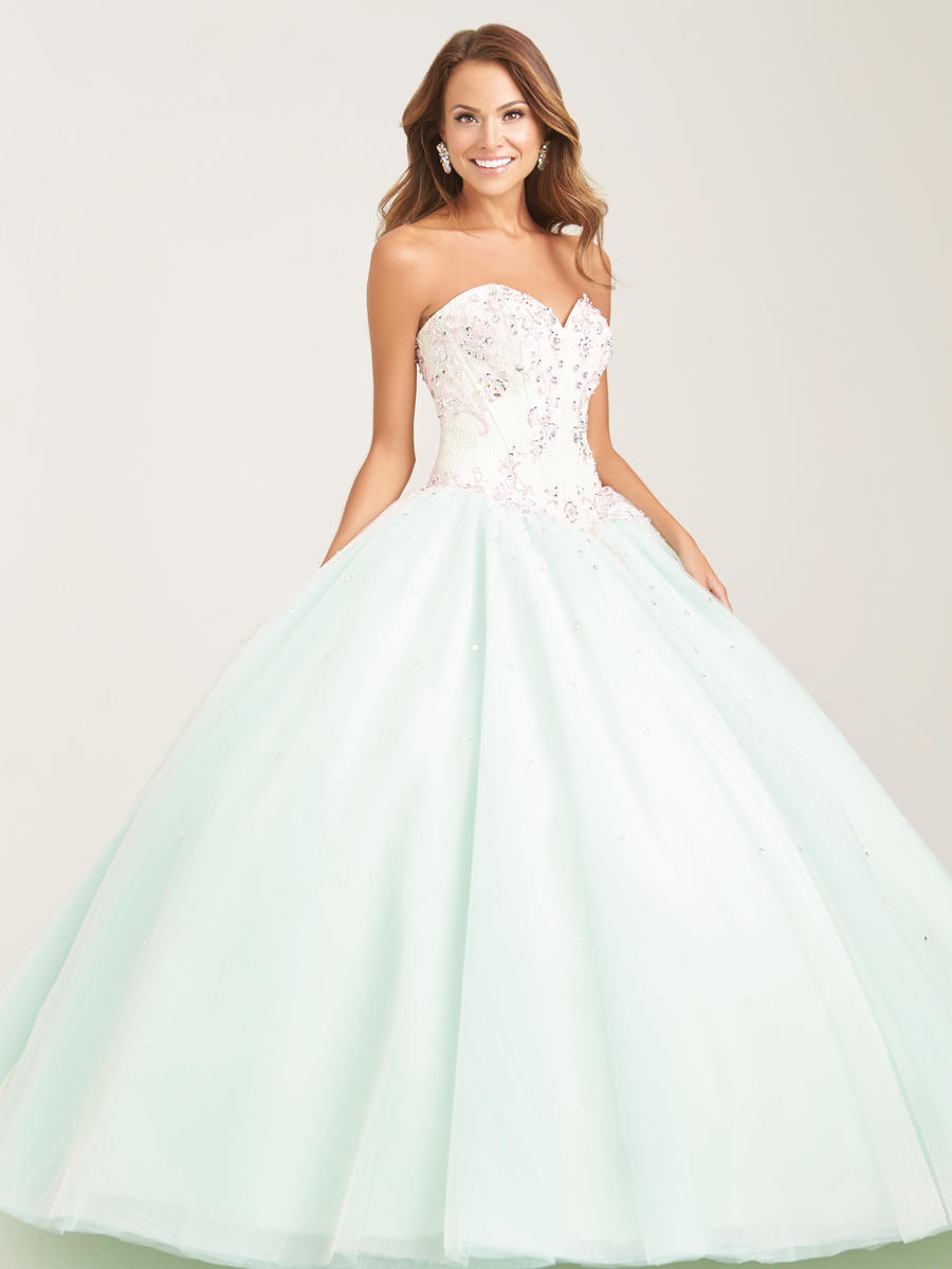 Allure Quinceanera Q509 Beaded Pastel Ball Gown: French Novelty