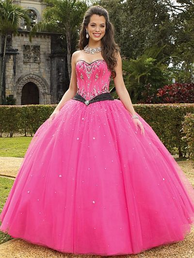 Vizcaya two tone satin and tulle quinceanera dress by mori for Mori lee pink wedding dress
