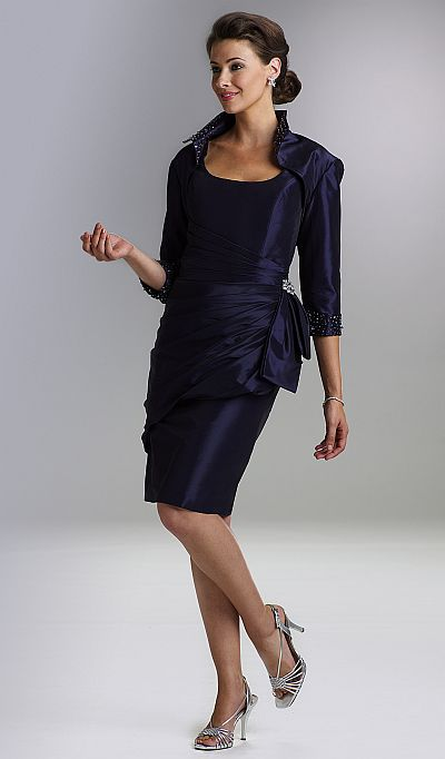 Rina di Montella Short Mother of the Bride Dress with Jacket ...