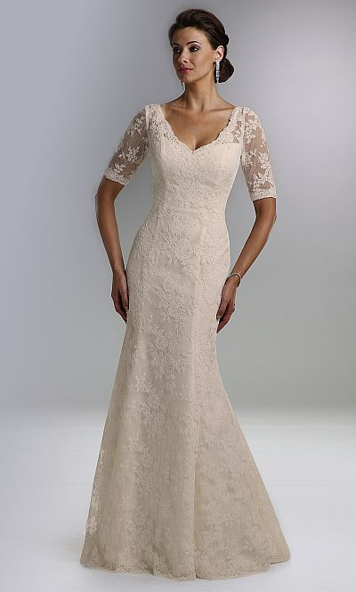 Rina di Montella Lace Mother of the Bride Gown RS1423: French Novelty