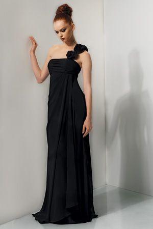 Size 8 Chanel Pink Bari Jay One Shoulder Bridesmaid Dress 641 ...