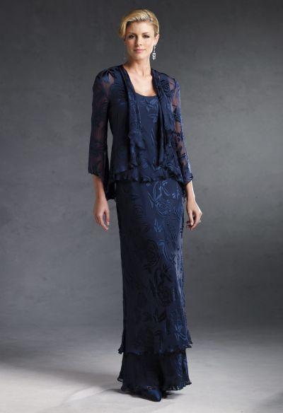 Navy Blue Capri by Mon Cheri 2pc Long Evening Dress CP2904-4 ...