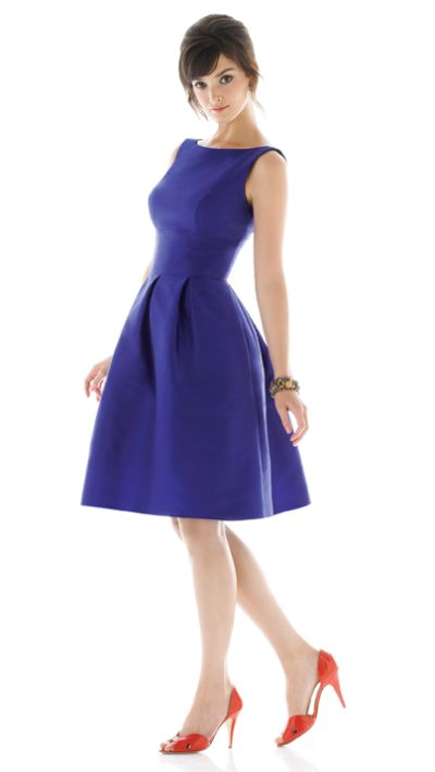 Sleeveless short dessy alfred sung bridesmaid dress d448 for What shoes to wear with navy dress for wedding