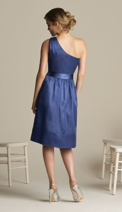One Shoulder Short After Six Bridesmaid Dress 6582 By