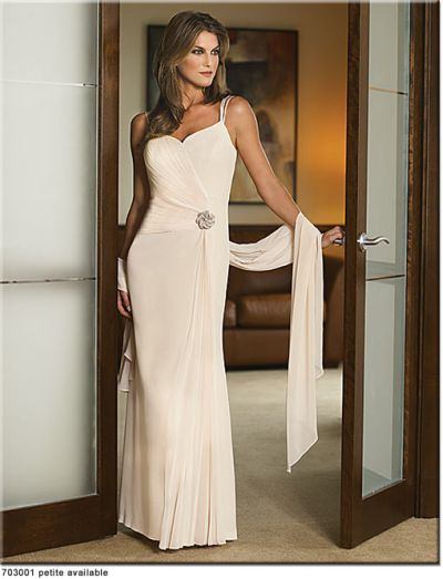 Daymor Couture Petite Long Evening Dress 703001: French Novelty