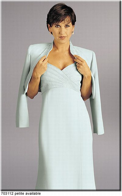 Petite Daymor Couture Mother of the Bride Dress 703112: French Novelty
