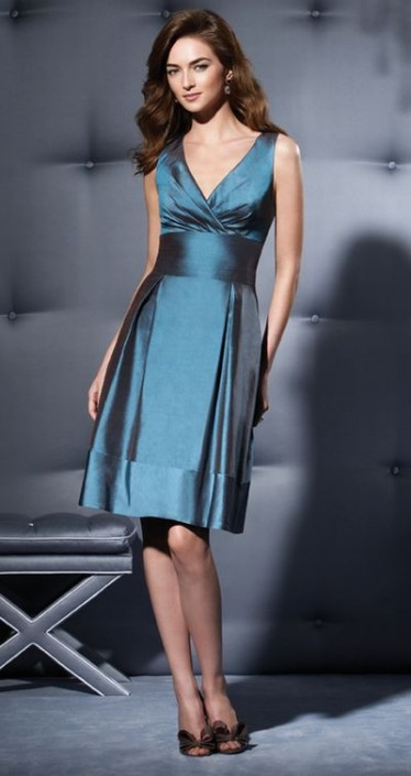 Silk Shantung Sleeveless Short Dessy Collection Bridesmaid Dress 2783