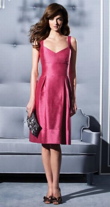 Silk Shantung Short Dessy Collection Bridesmaid Dress 2785