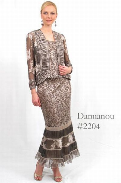 Damianou Multi Pattern 3pc Mother Of The Bride Dress 2204