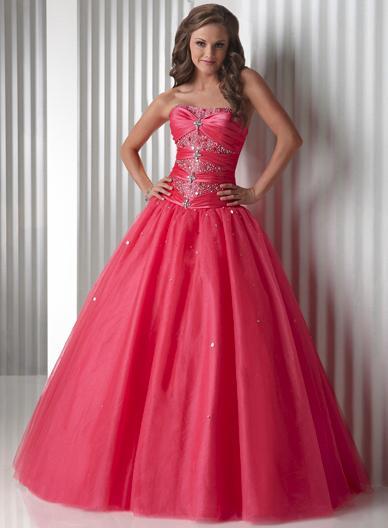 Flirt Taffeta Tulle Quinceanera Dress Prom Dress Ball Gown P4414 image