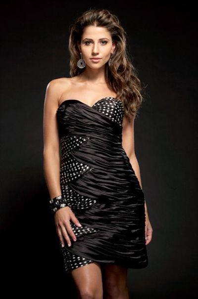 Black White Polka Dot Cocktail Dress 4003 by Jasz Couture image