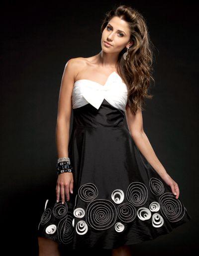 Jasz Couture Swirly Swirls Short Party Dress 4009 image