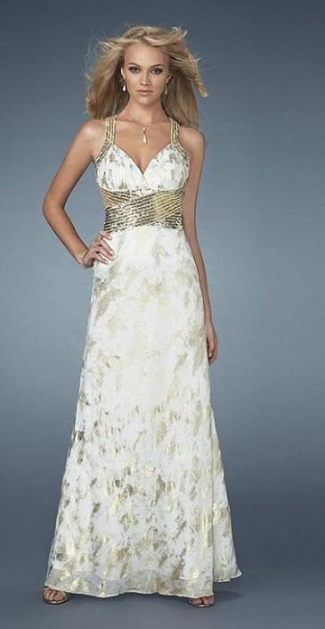 20efffedf3d Gold Prom Dress by La Femme GiGi 13860  French Novelty