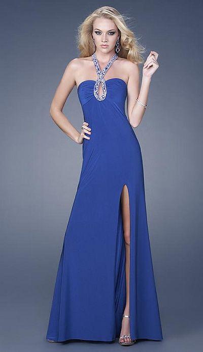GiGi Jersey Beaded Keyhole Prom Dress 15321 by La Femme image