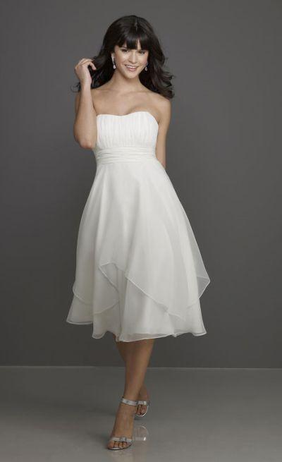 Chiffon Hanky Hem Overlay Mori Lee Affairs Bridesmaid Dress 791