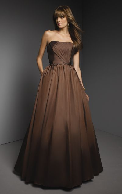 Taffeta long full mori lee bridesmaid dress 261 french for Mori lee taffeta wedding dress
