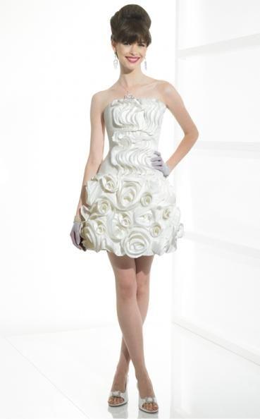 Short Rosette Moonlight Tango Informally Yours Wedding Dress T400 - Rosette Wedding Dress