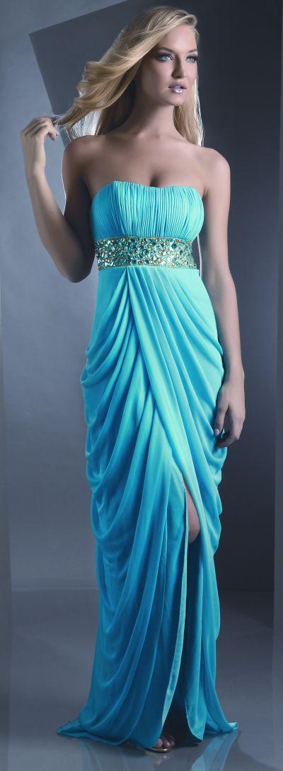 Shimmer Grecian Drape Prom Dress 59932 by Bari Jay image