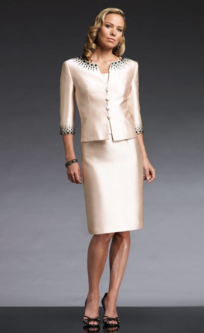 Social Occasions By Mon Cheri Silk Shantung Formal Suit 110833