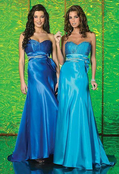 Studio 17 Pleated Bodice Empire Prom Dress 12140 image