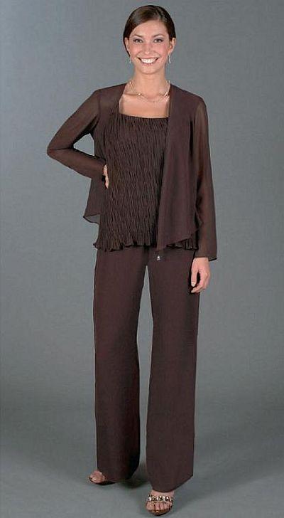 Ursula Plus Size Chiffon 3pc Formal Pant Set 41071