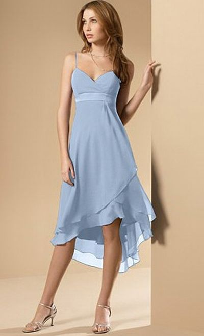 Alfred Angelo High Low Layered Bridesmaid Dress 6471