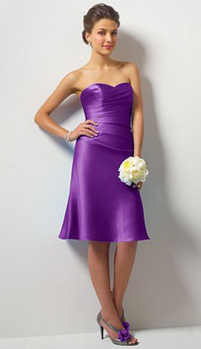 Alfred Angelo Short Bridesmaid Dress With Modesty Piece