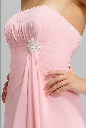 Alexia Designs Chiffon Long Bridesmaid Dress with Mother of Pearl ...