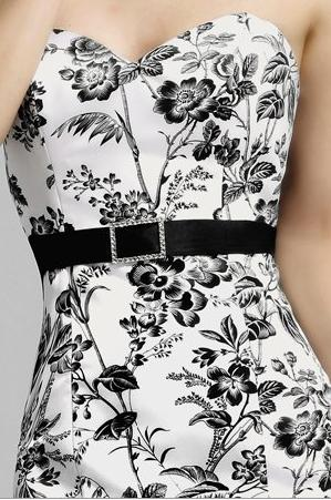 Alexia designs black and white floral print bridesmaid dress 4010 alternate view of the productname image mightylinksfo
