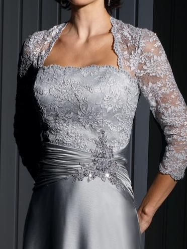 cameron blake evening dress with lace sleeves 111676