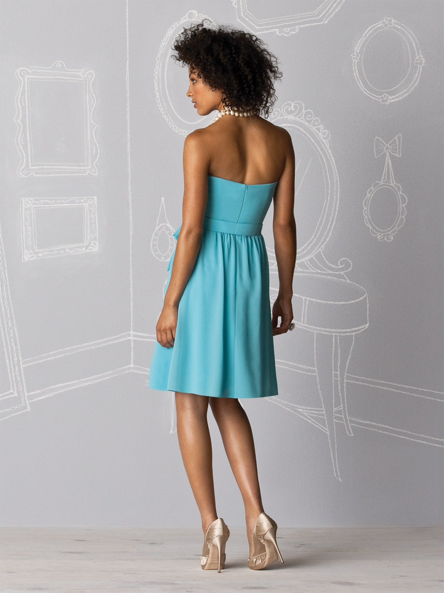 After Six Chiffon Short Bridesmaid Dress with Ruffle 6602 by Dessy ...